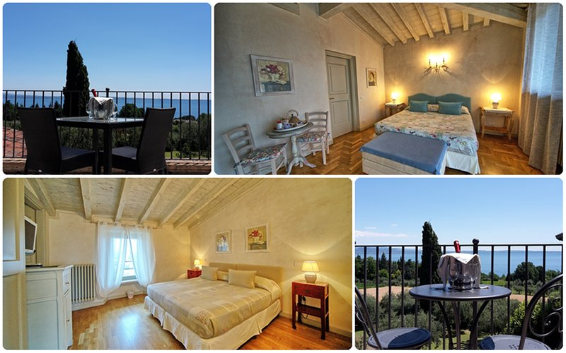 Deluxe Double rooms, king size bed, with private Balcony facing Lake Garda, Ferienwohnung in Montinelle