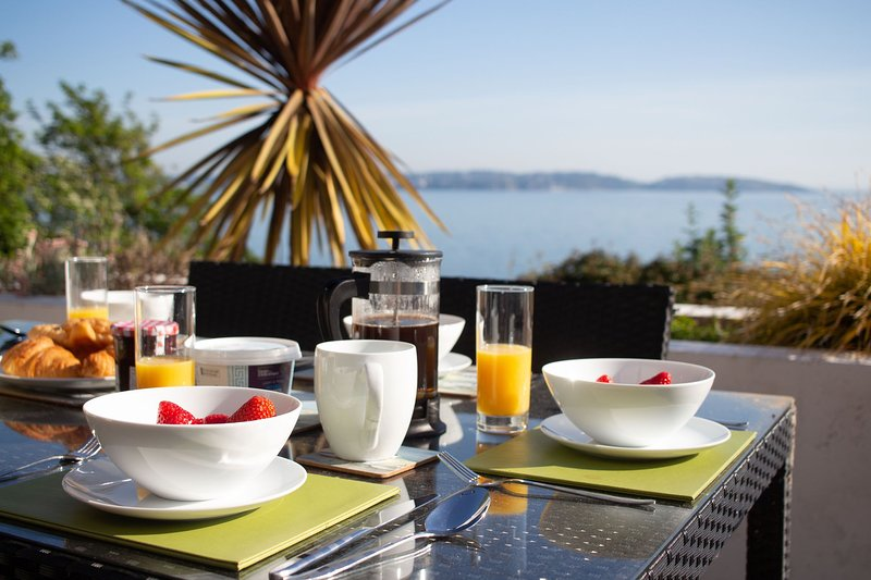 Osprey 1 - The Cove - Stunning sea views from luxury 2 bed apartment with large, location de vacances à Galmpton