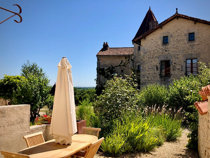 Chateau de Gurat - Mas Provencal, 2 bedrooms | beautiful grounds | heated pools, holiday rental in Champagne-et-Fontaine