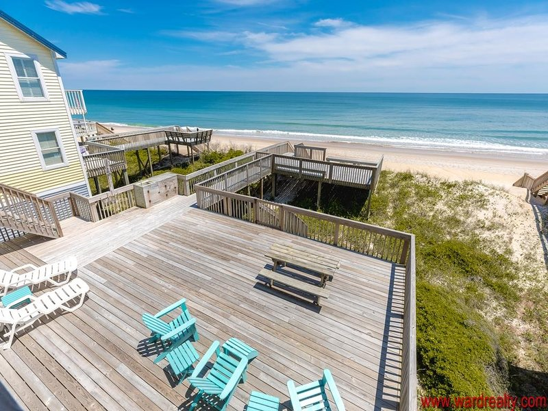Oceanfront Sun Decks & View from Top Covered Porch