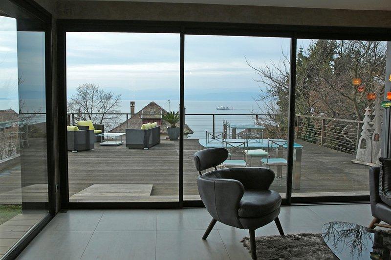 Appartement Les Terrasses : vue lac à 180 ° dans cadre bucolique, vacation rental in Thonon-les-Bains