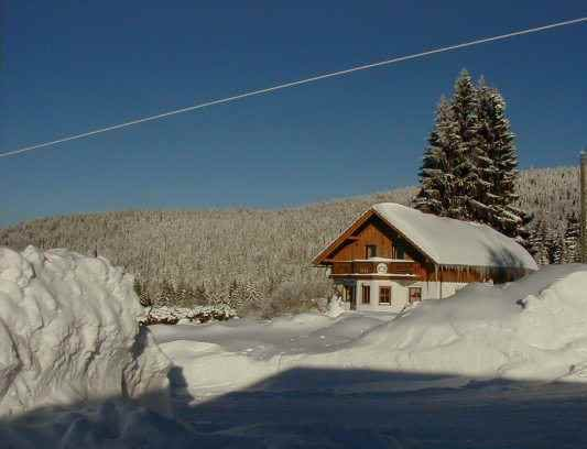 Ferienhaus Pleckenstein im schneereichen Winter