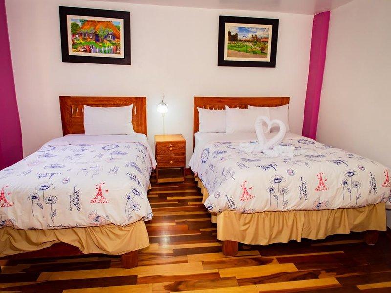 Hotel con vista a las montanas con dos terrazas - Habitacion Doble 10, holiday rental in Machu Picchu