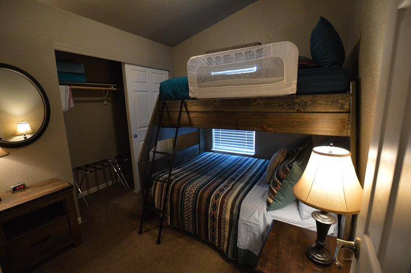 Bedroom #3 with Full Size lower bunk and Twin above