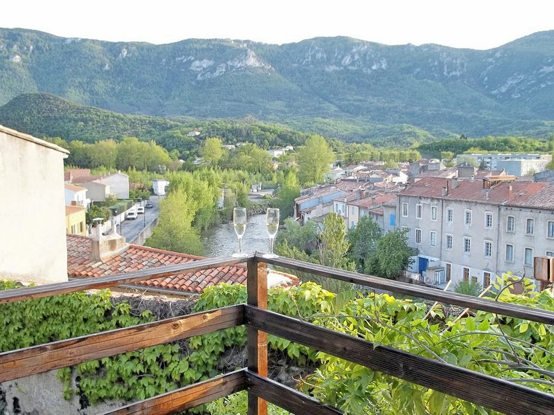 15thC Oak Beamed Cottage with stunning views from three outside areas, holiday rental in Quillan