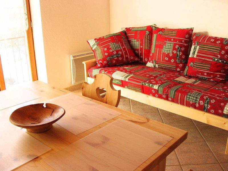 Le Sainte Barbe appartement 3 pièces en duplex, vacation rental in Bessans
