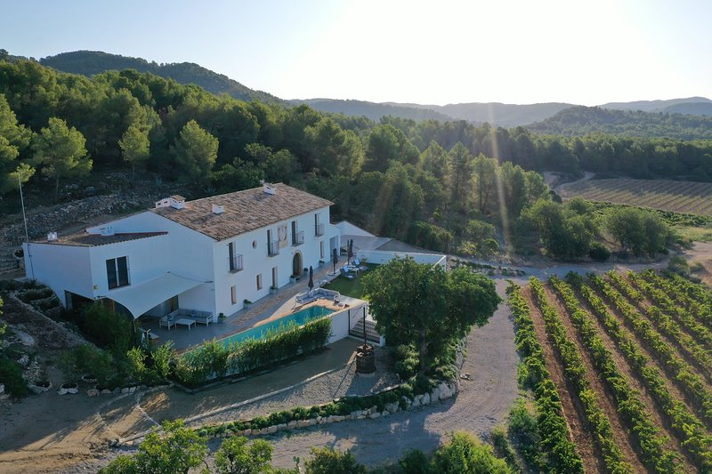 Large Country Home 10 mins beaches. 14 to 16 people on Private vineyard, alquiler vacacional en Sant Pere de Ribes