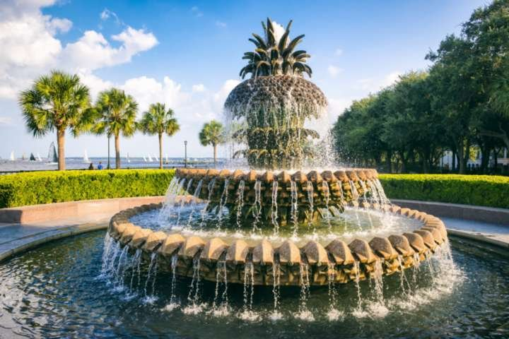 Visit the waterfront park and discover why Charleston is nuts about pineapples!