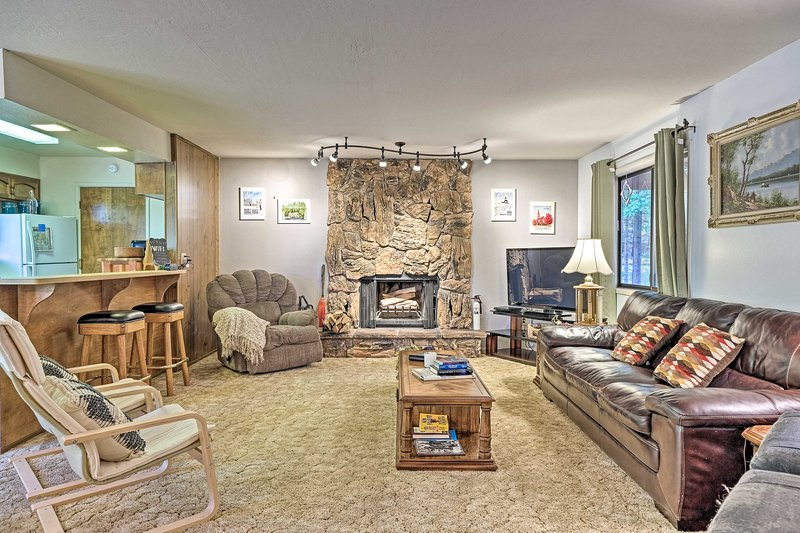 The vacation rental offers comfortable space both inside & out.