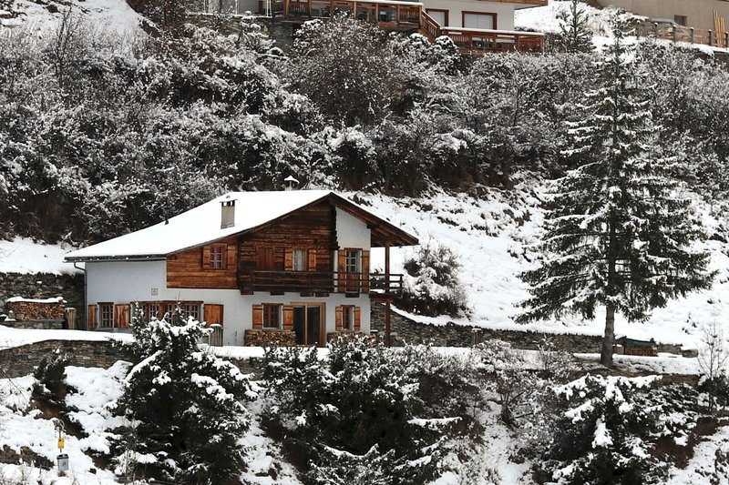 View on the chalet from the village entrance