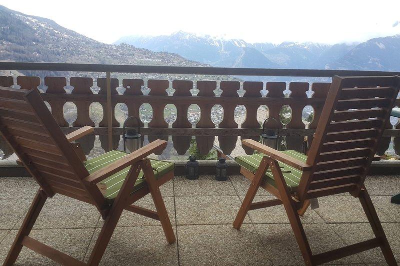 Appartement de 2.5 pièces avec vue imprenable - Veysonnaz, location de vacances à Veysonnaz