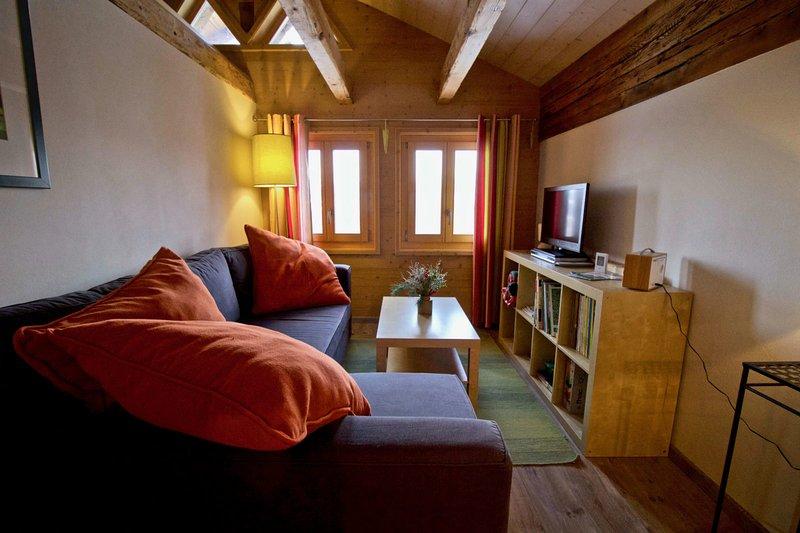 Appartement sous les combles - Chalet La Biolle - Vercorin, vacation rental in Saint Jean