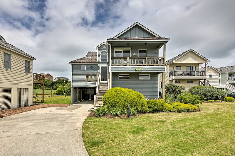 Book a getaway to this charming Nags Head vacation rental home!