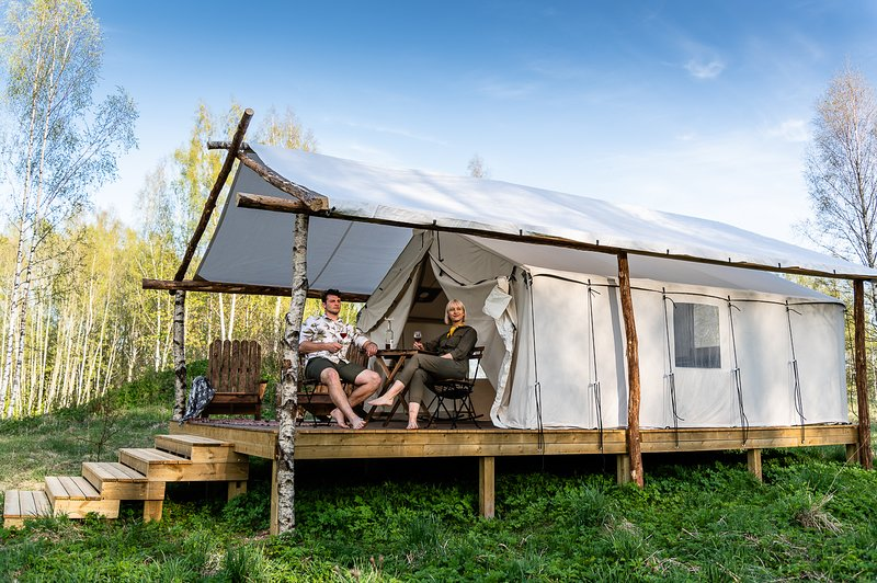 Wild'ness Retreat Gauja Park - Wild Wood Glamping Tent – semesterbostad i Sigulda