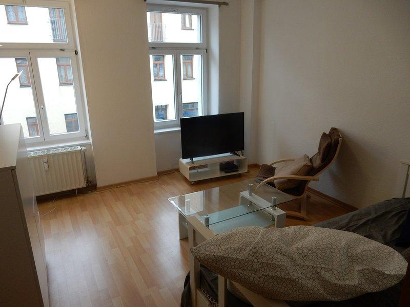 Zentrale 2 Zimmer Wohnung mit Balkon und Netflix, holiday rental in Eilenburg