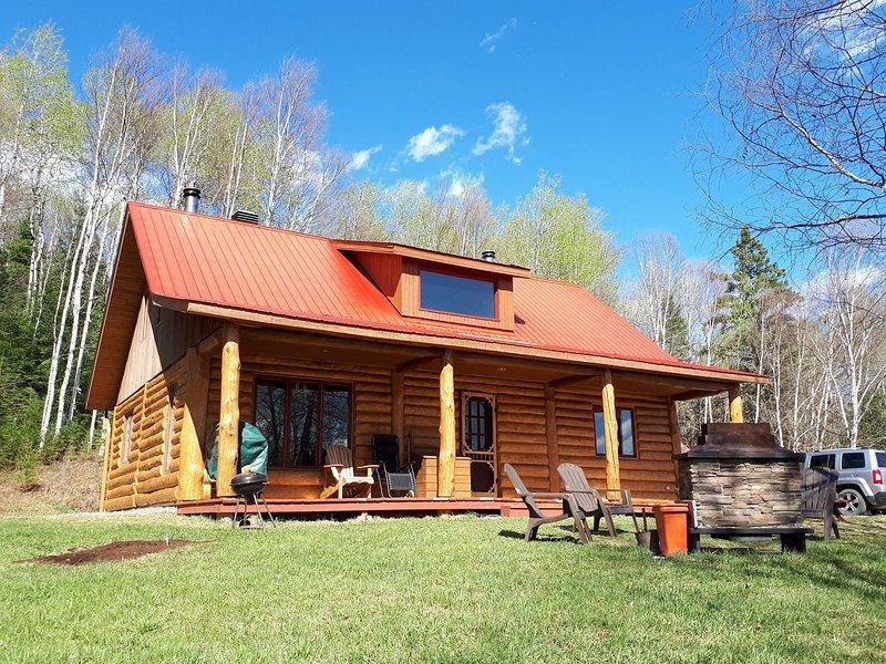 Chalet  Nakamo - Nature et bois rond Canada, location de vacances à Saint Zenon
