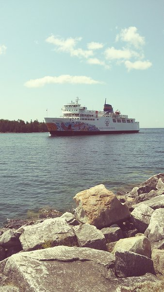 Ride the ChiCheemaun ferry from Tobermory to South Bay mouth!