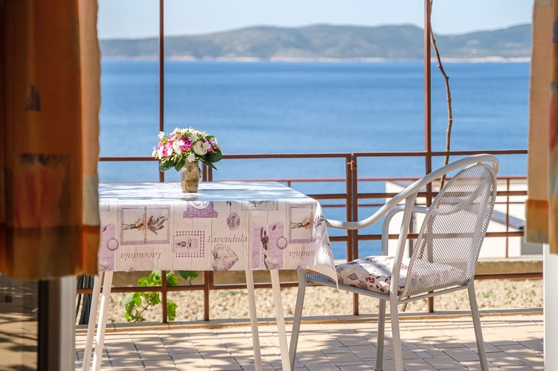 Rooms Sani - Double Room with Terrace and Sea View (S1), vacation rental in Brela