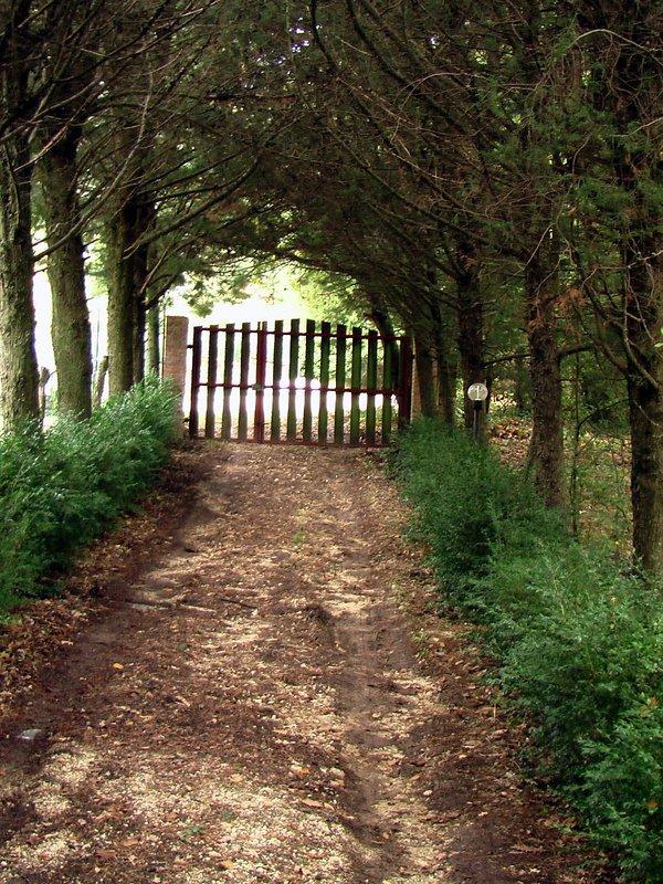 ...il cancello d'entrata...