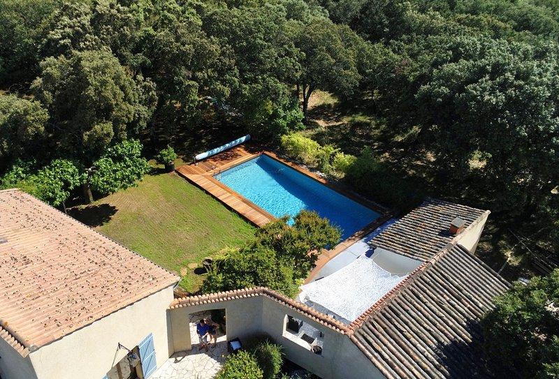 Gite Mas de Béranger, Piscine, 8 pers, aluguéis de temporada em Galargues