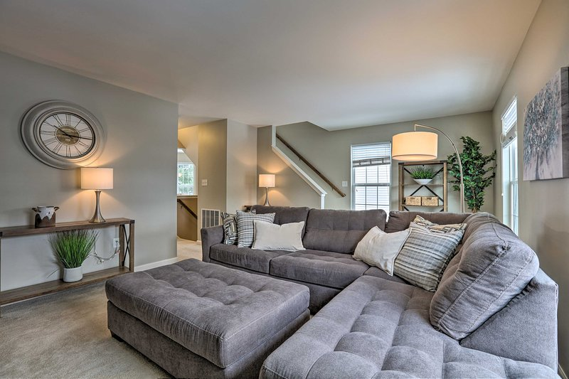 Spread out on this Bellefonte home's sectional sofa.