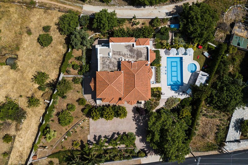 A view of the Villa and the village from above! Total privacy!