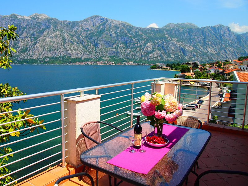 Frontine Apartment overlooking Kotor Bay, vacation rental in Radovici