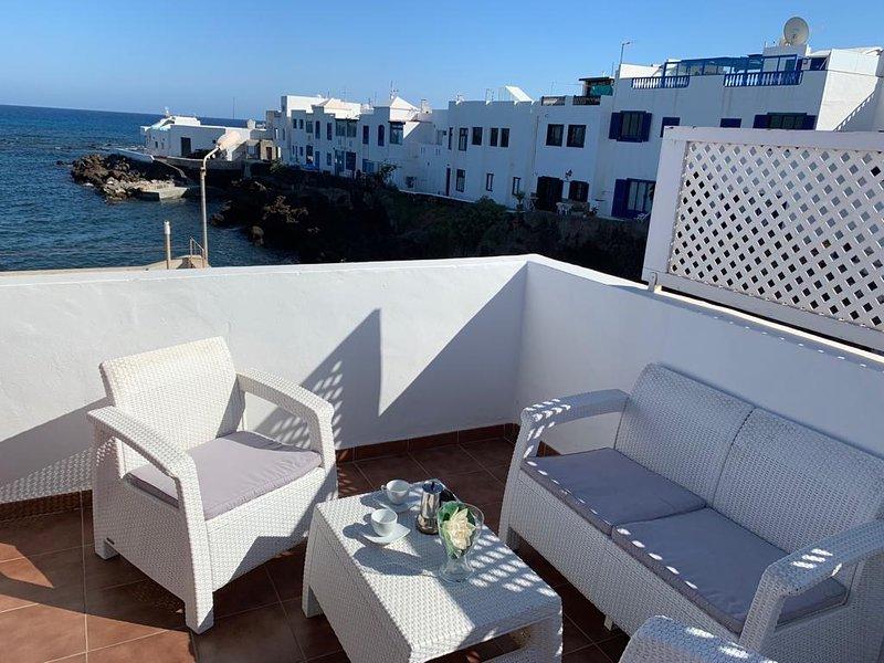 gemütliche Sitzecke auf der Dachterrasse