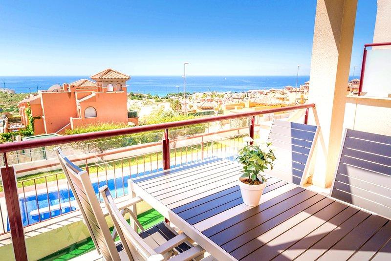 Sea view apartment Mojon Hills, holiday rental in Isla Plana