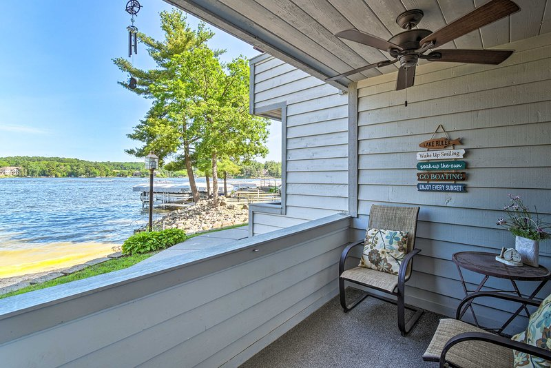 Enjoy water views with your morning coffee.