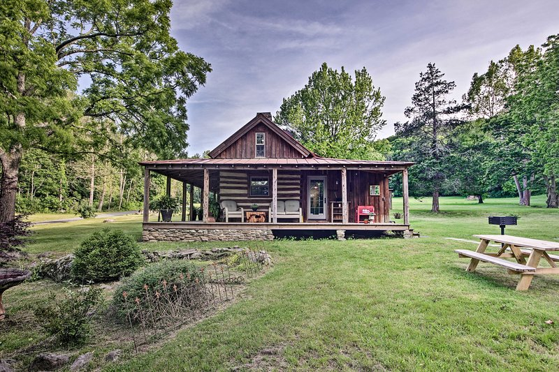 NEW! Restored Buchanan Log Cabin: Built in 1700s!, holiday rental in Natural Bridge Station