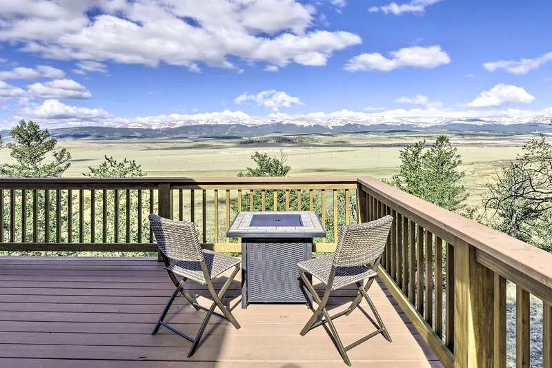 Unobstructed views of the Rockies will serve as your backdrop.