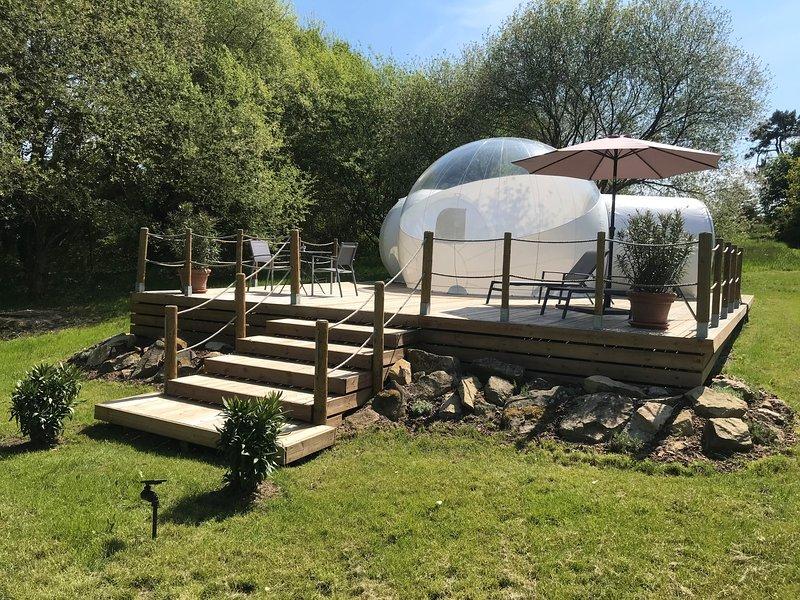 Bubble Suite Domaine de Lann Hallat, location de vacances à Plougoumelen