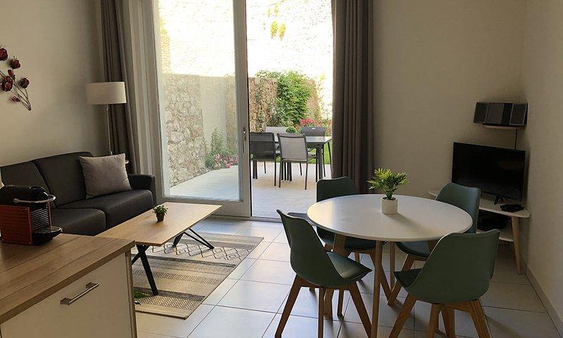 Etoile De Mer - Appartement calme de 45m² neuf avec Jardin, location de vacances à Sète