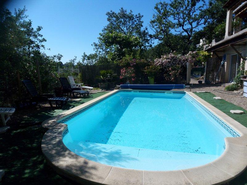 Amazing villa with swimming-pool, location de vacances à Vèzenobres