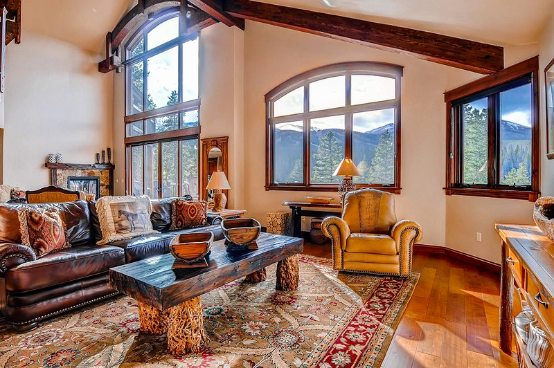 Spacious & private ski-in/out home w/private hot tub, gas grill, & mtn views, holiday rental in Breckenridge