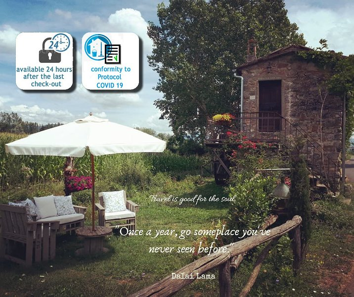 Typical farmhouse in tuscany 'Il Molino', holiday rental in Quota