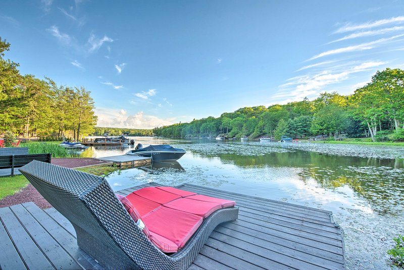 Bring family along on a luxurious Lake Harmony getaway at this vacation rental.