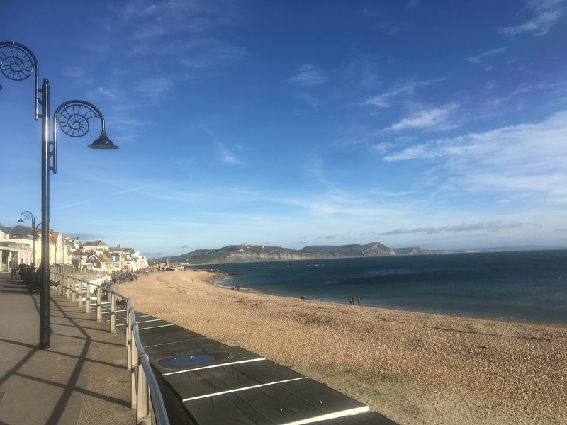 Nearby Lyme Regis (in winter)
