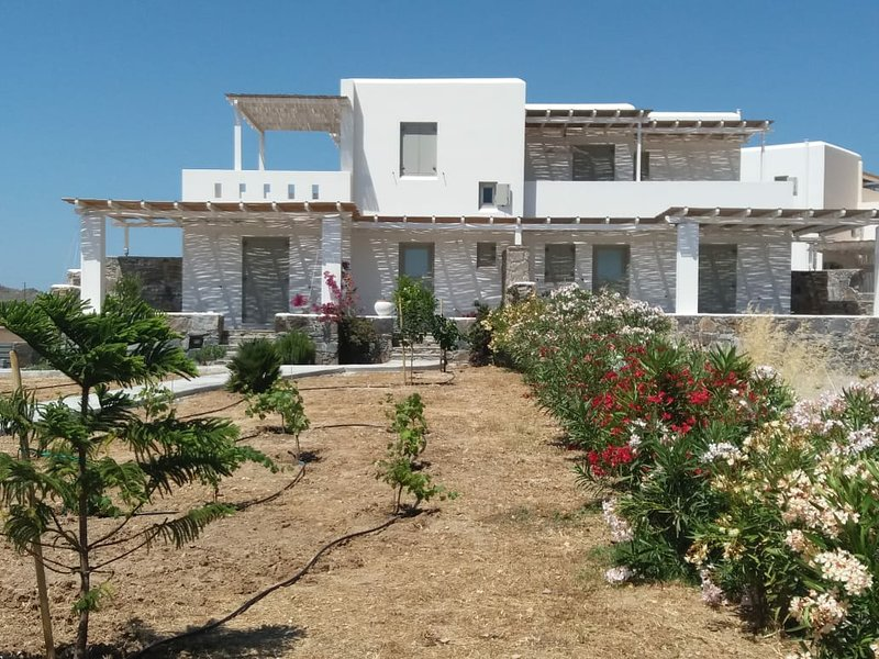 A wonderful Cycladic villa in front of the sea!, holiday rental in Pyrgaki