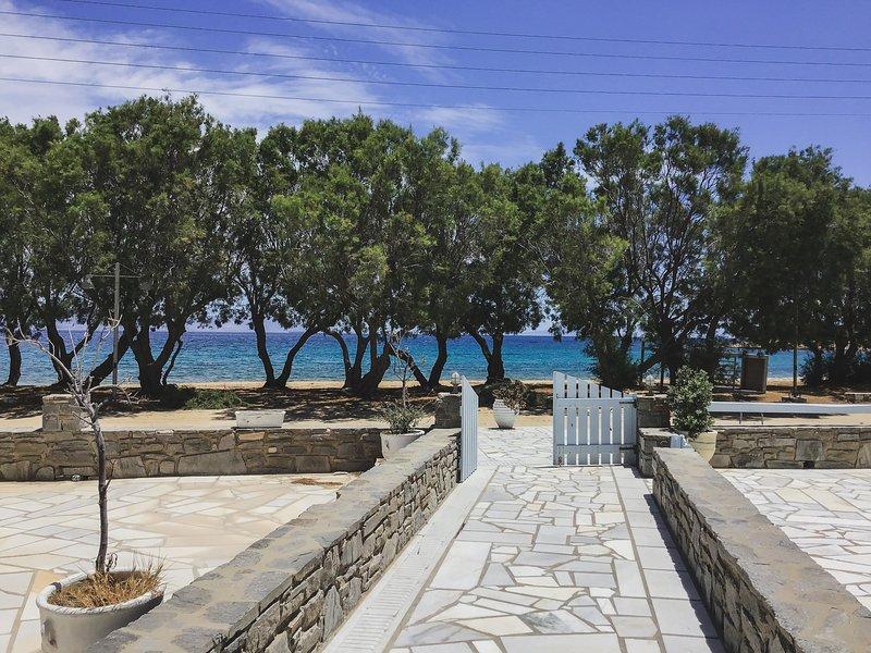 Fairy-tale Seafront Cycladic home, holiday rental in Nea Chryssi Akti