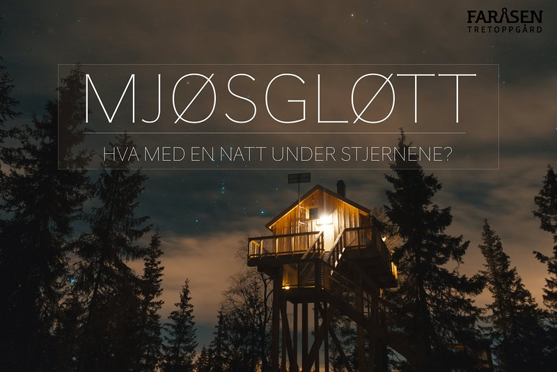 Unique Tree top huts in wonderful nature, holiday rental in Sjusjoen