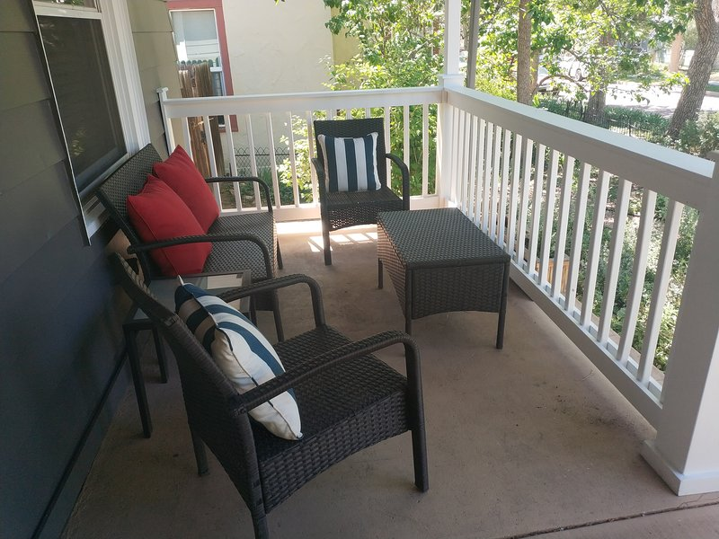 Additional front porch seating