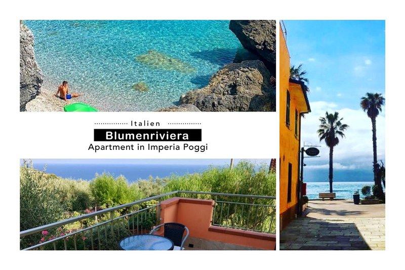 Wohnung mit Meerblick, Imperia Poggi, 2,5 km vom Meer entfernt ' Casa Del Sole', vacation rental in Poggi
