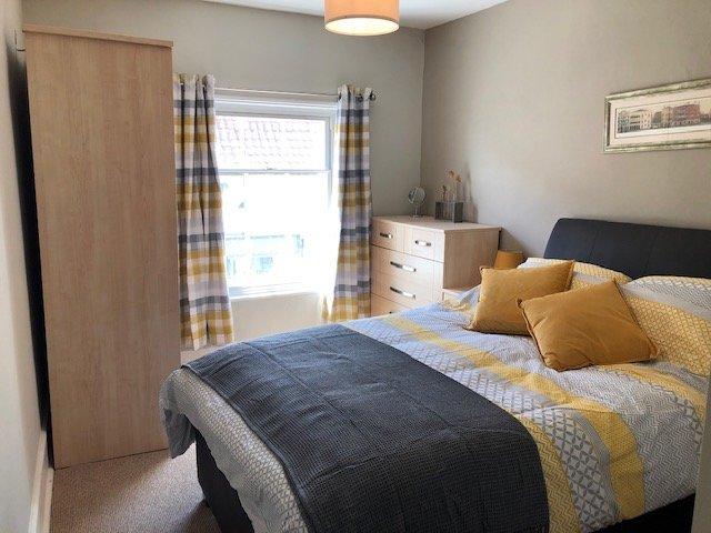 Bright relaxing bedroom