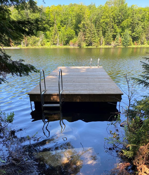 Access to pontoon in front of our chalet