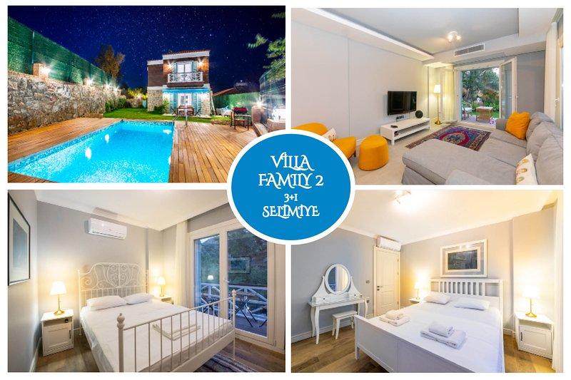 Villa Familia 2 Selimiye Daily Weekly Rentals, holiday rental in Sogut