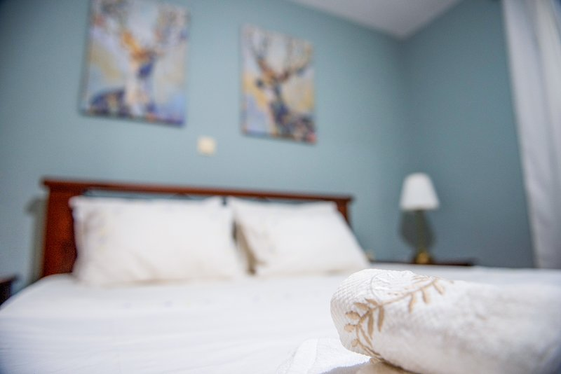 Pine trees apartment - Family friendly apartment/walking distance from the sea, location de vacances à Nikopolis
