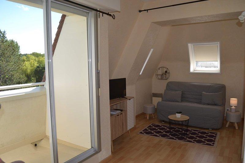 Nice studio with balcony, casa vacanza a Bourgeauville