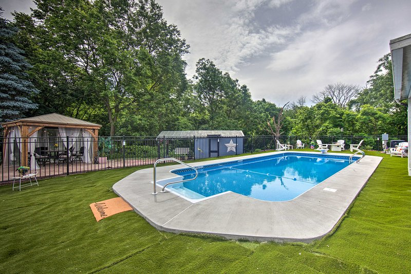 Take a dip in the brand new private pool!